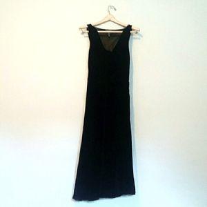 Lauren Ralph Lauren Long Black Velvet Dress